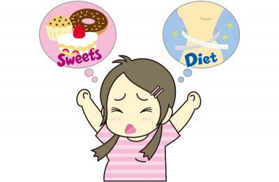 食欲のコントロールができず苦しむ女性
