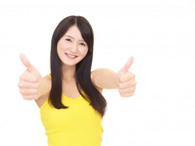ダイエット成功を喜ぶ女性