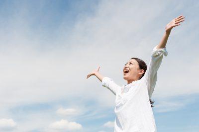 ストレスから解放された女性