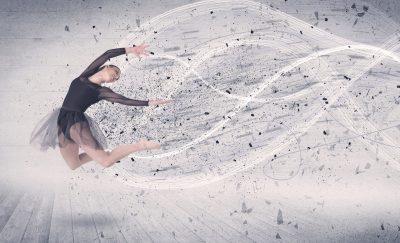 優雅なバレエの動き