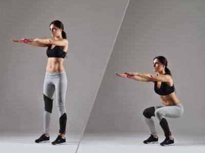 スクワットで太ももの筋肉を鍛える