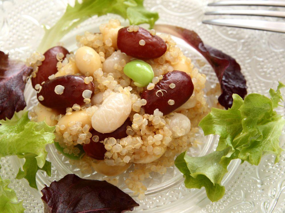 キヌア 豆 サラダ