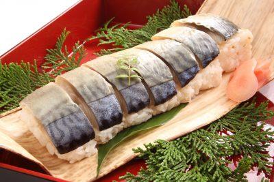 鯖寿司(不飽和脂肪酸を含む食材)