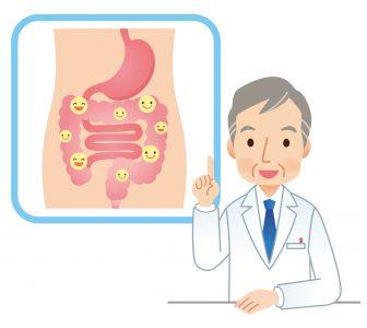 腸内環境が改善される食事アドバイスをする医師