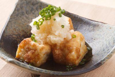 食べ方の例:揚げ出し豆腐と大根おろし