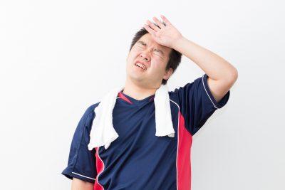 運動不足の肥満男性