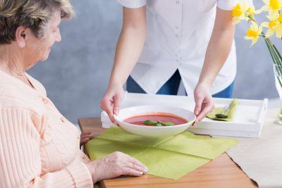 看護婦が出してくれるスープ