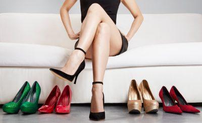 すっきりとした美しい足首の女性