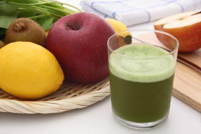 青汁とリンゴ