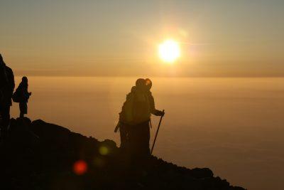 富士山山頂:日の出