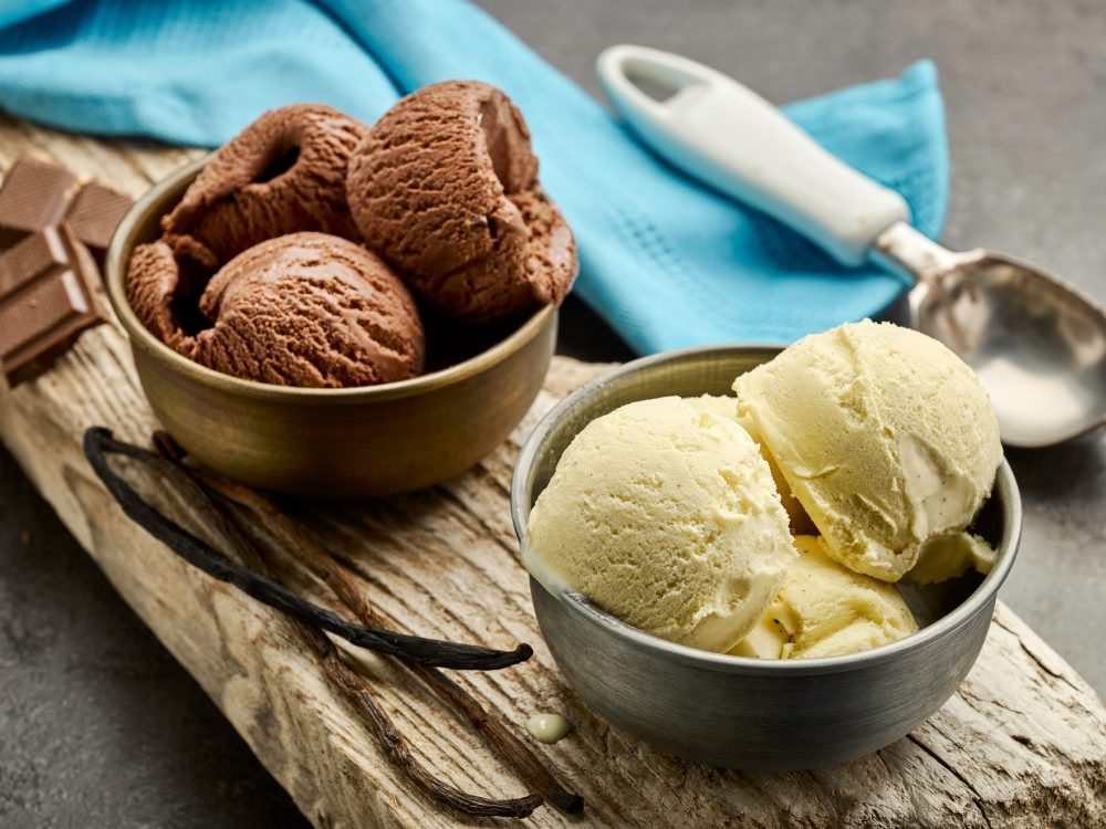 チョコとバニラのアイスクリーム