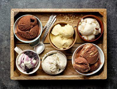様々なアイスクリームの種類