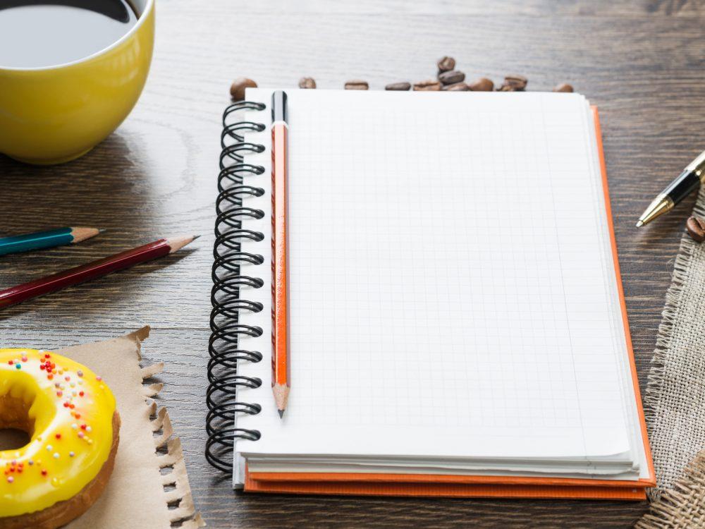 ダイエットの効果を記したノート