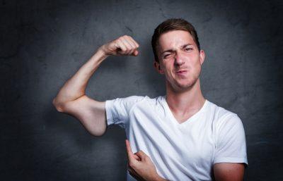 筋肉が弱いイメージ