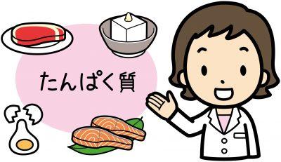 たんぱく質食品を紹介する管理栄養士