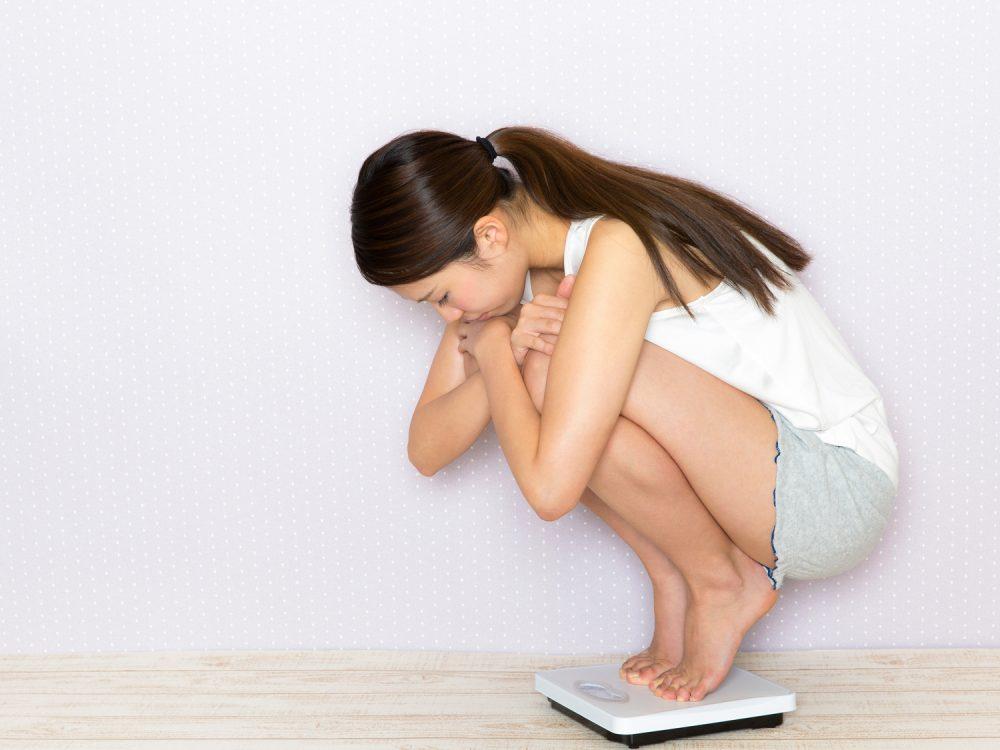 ダイエット停滞期で体重が減らない様子