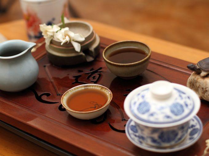煮出して作ったプーアル茶