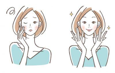 美肌効果を実感する女性のイラスト