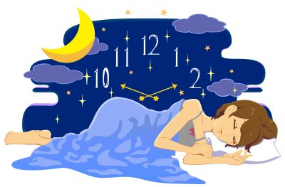 成長ホルモンが分泌される時間帯に眠るイメージ