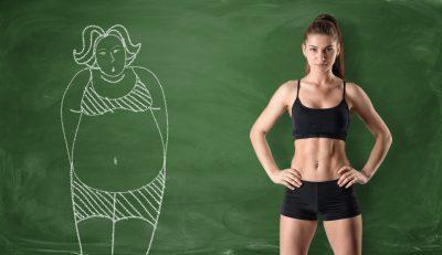 脂肪をなくし筋肉質になった女性