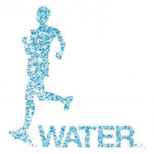 人間の身体が主に水でできている様子