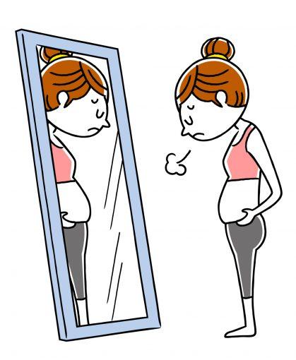 肥満に悩む女性