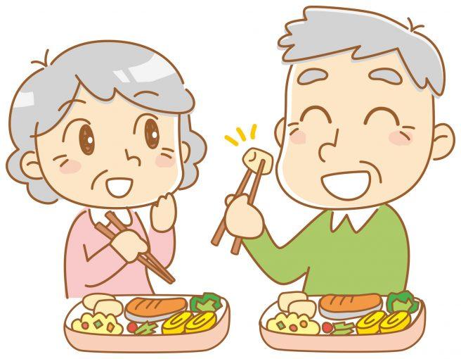 従来の宅食のイメージ 老夫婦の食事