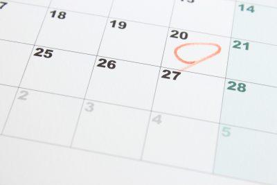 カレンダーに実践開始日をマーク