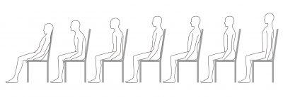 座る姿勢を良くする
