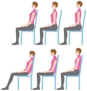 椅子に座るときの良い姿勢悪い姿勢