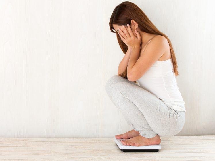 体重が停滞期で落ちない女性