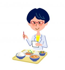 食事を管理する栄養士
