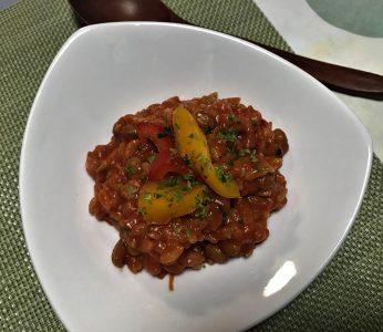 納豆トマト リゾット